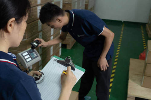Insight inspectors conducting a product quality inspection