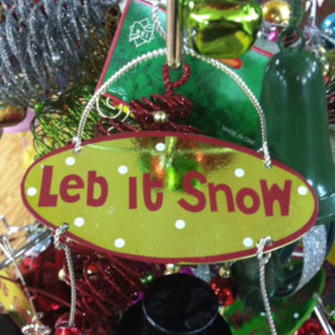 Christmas decoration that says
