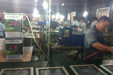 Busy factory workshop pre-outbreak