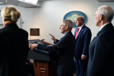 U.S. officials at a press briefing