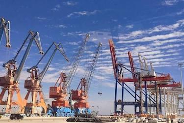 Cranes at Gwadar Port