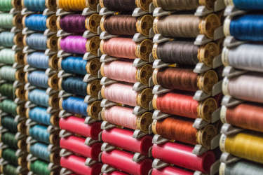 Spools of thread in many different colors