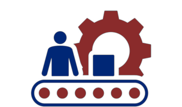 Manufacturing process icon