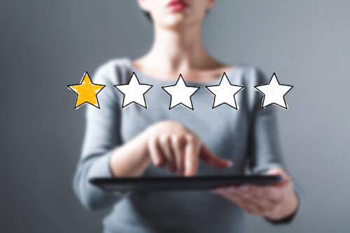 Low one-star product rating stemming from QC issues